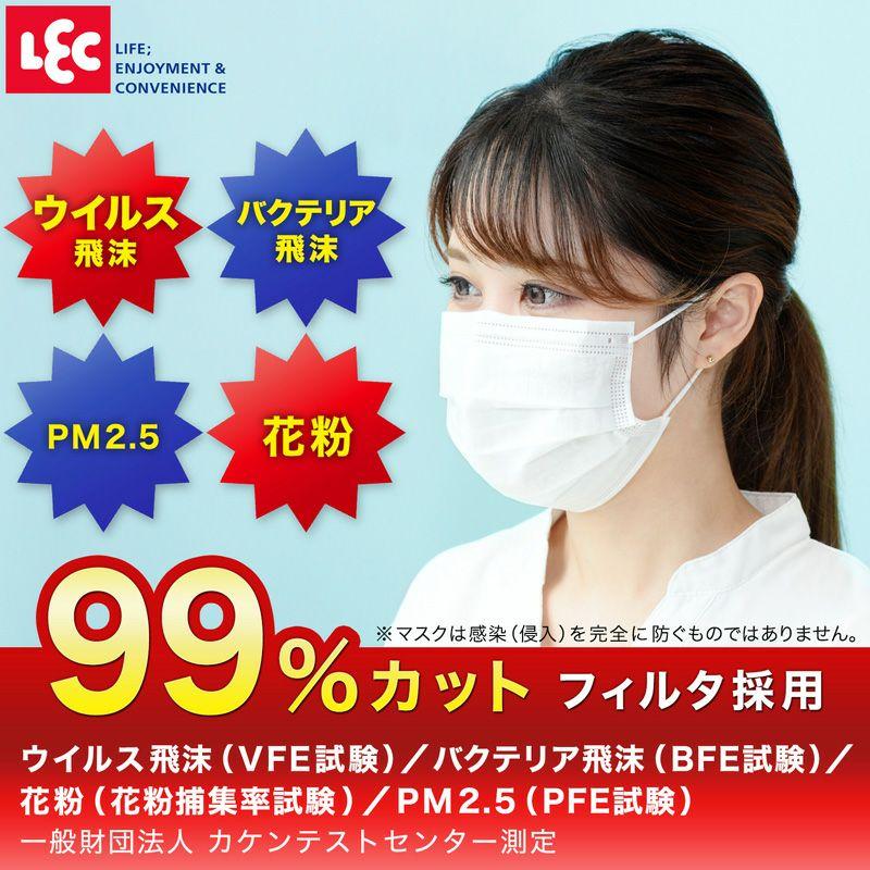 【送料無料】ノーズフィット 不織布 マスク 90枚 (30枚入×3箱)